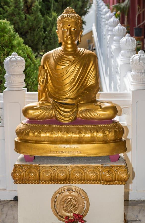 Διδασκαλία Dharma στο βουδιστικό ναό Lai του, Καλιφόρνια του Βούδα στοκ φωτογραφία