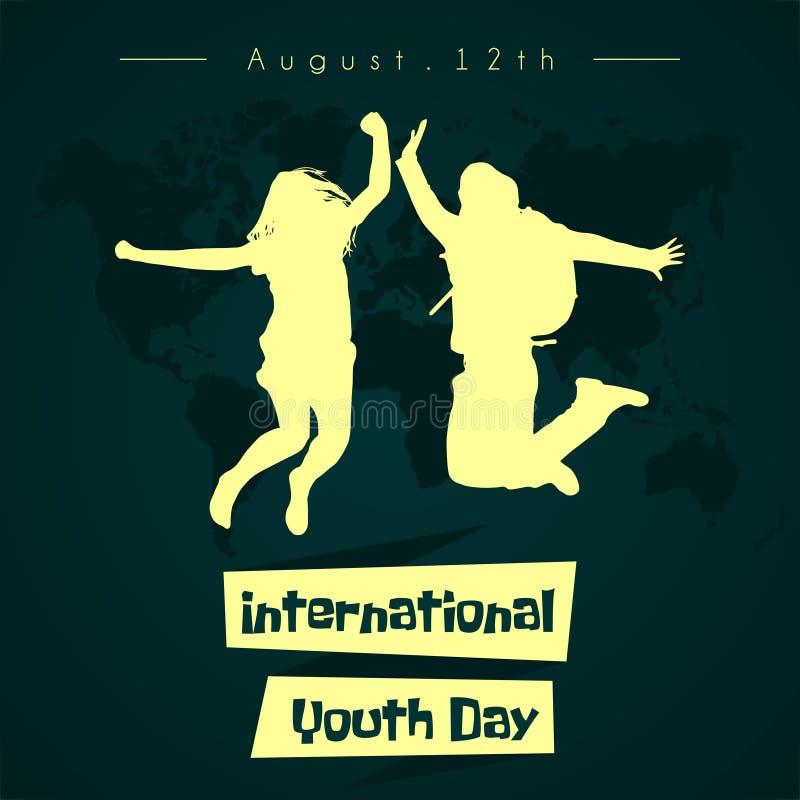Διεθνές διανυσματικό σχέδιο ημέρας νεολαίας στοκ εικόνες