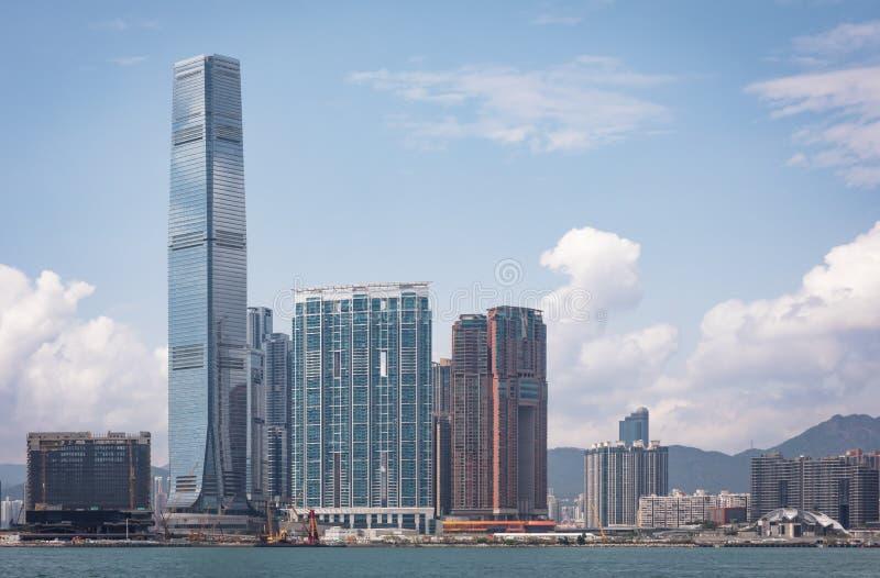 Διεθνές κέντρο εμπορίου, το πιό ψηλό κτήριο στο Χονγκ Κονγκ στοκ φωτογραφία με δικαίωμα ελεύθερης χρήσης