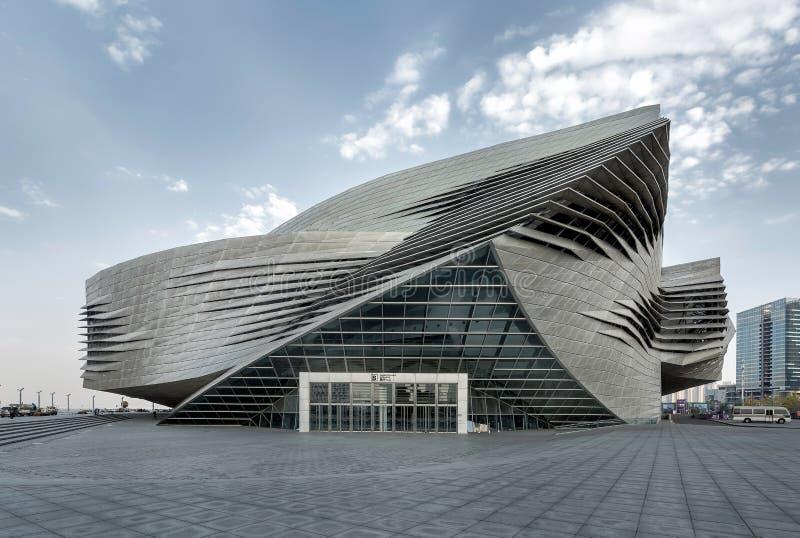 Διεθνές κέντρο Συνθηκών και έκθεσης Dalian, Κίνα στοκ φωτογραφίες