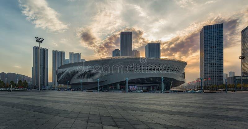 Διεθνές κέντρο Συνθηκών και έκθεσης Dalian, Κίνα στοκ εικόνα
