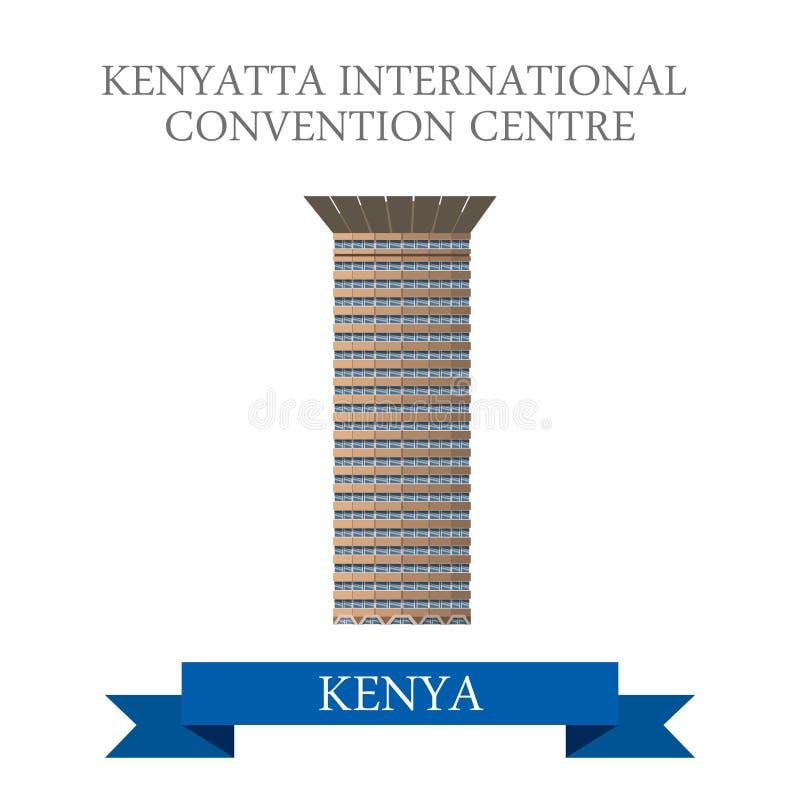 Διεθνές κέντρο Συνθηκών Kenyatta σε Nairob διανυσματική απεικόνιση