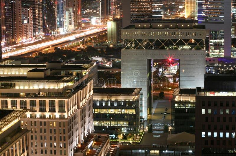 Διεθνές οικονομικό κέντρο του Ντουμπάι (DIFC) στοκ εικόνες
