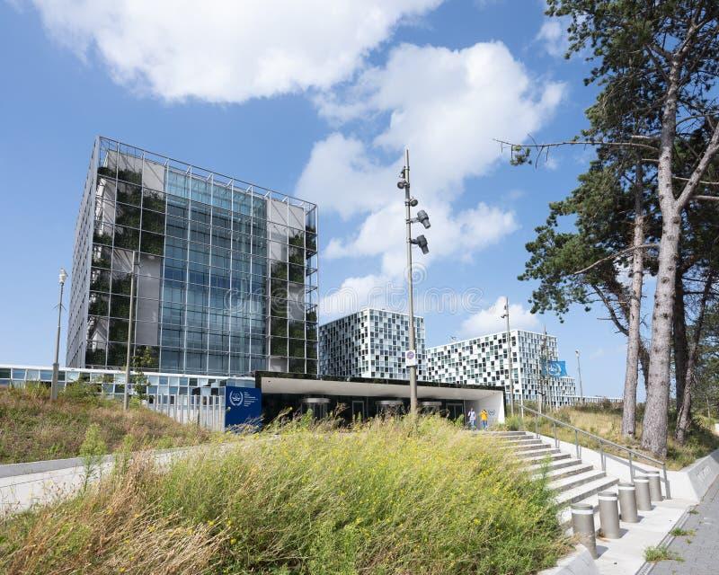 Διεθνές Ποινικό Δικαστήριο στη Χάγη κάτω από το μπλε ουρανό το καλοκαίρι στοκ εικόνα