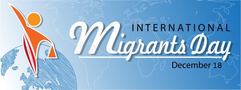 Διεθνές υπόβαθρο ημέρας μεταναστών απεικόνιση αποθεμάτων