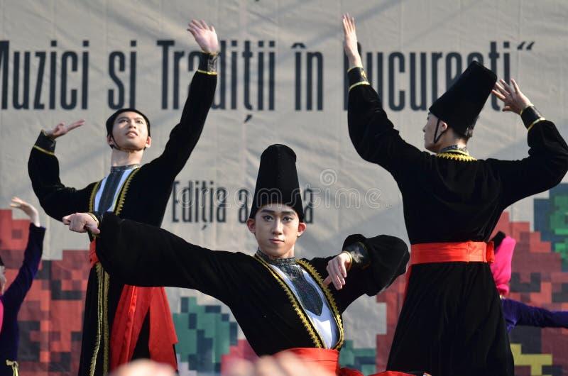Διεθνές φεστιβάλ λαογραφίας: Ακαδημία χορού του Πεκίνου στοκ εικόνες με δικαίωμα ελεύθερης χρήσης