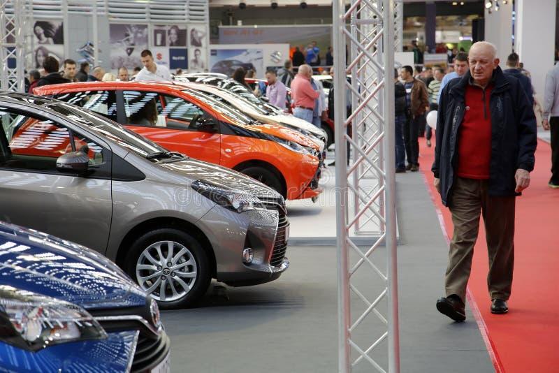 Διεθνής έκθεση αυτοκινήτου σε Βελιγράδι στοκ εικόνες με δικαίωμα ελεύθερης χρήσης