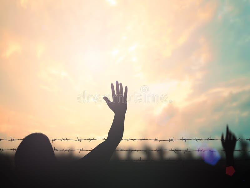 διεθνής έννοια ημέρας των ανθρώπινων δικαιωμάτων στοκ εικόνες