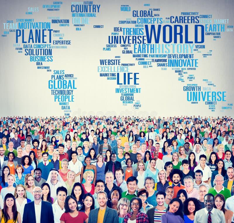 Διεθνής έννοια πλανητών ζωής παγκόσμιας παγκοσμιοποίησης στοκ εικόνες