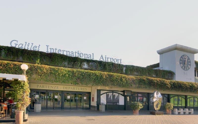 Διεθνής αερολιμένας Γαλιλαίος Galilei της Πίζας στοκ φωτογραφία με δικαίωμα ελεύθερης χρήσης