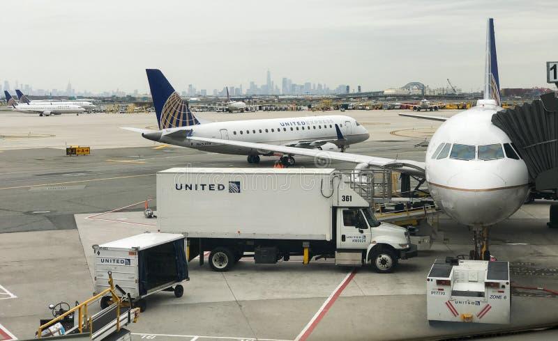 Διεθνής αερολιμένας ελευθερίας του Newark στοκ εικόνα με δικαίωμα ελεύθερης χρήσης