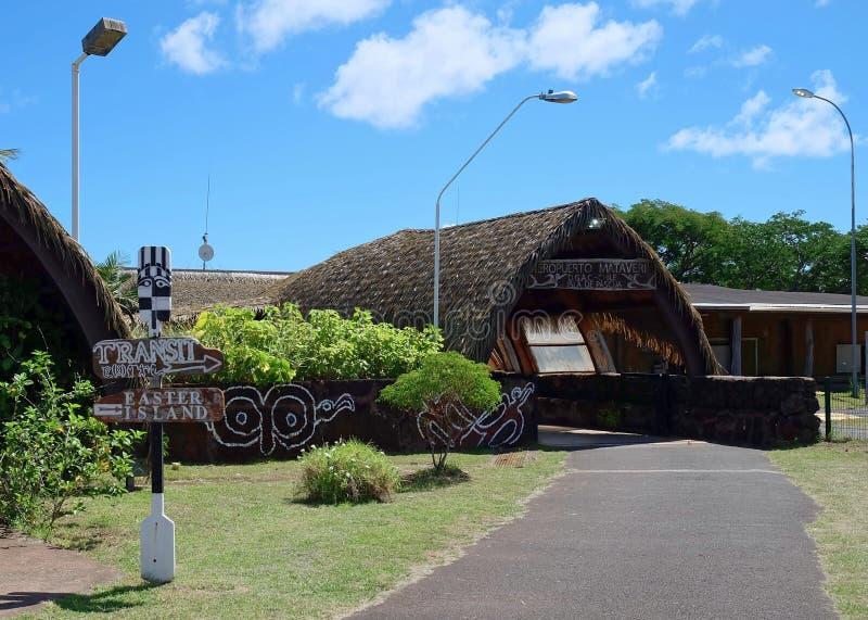 Διεθνής αερολιμένας Mataveri στο νησί Πάσχας στοκ εικόνα με δικαίωμα ελεύθερης χρήσης