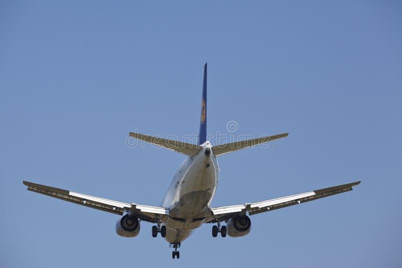 Διεθνής αερολιμένας της Φρανκφούρτης (Γερμανία) - προσέγγιση προσγείωσης στοκ εικόνες με δικαίωμα ελεύθερης χρήσης