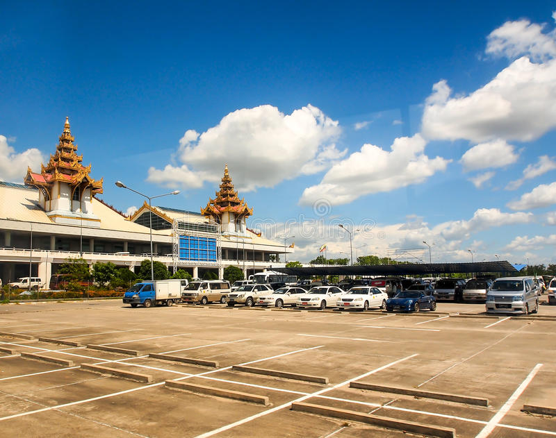 Διεθνής αερολιμένας του Mandalay, το Μιανμάρ 2 στοκ φωτογραφία