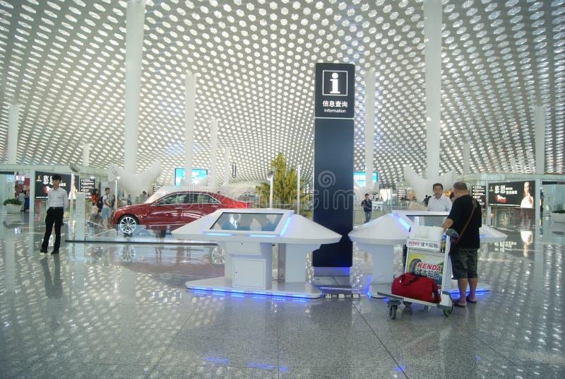Διεθνής αερολιμένας Baoan Shenzhen, στην Κίνα στοκ εικόνα με δικαίωμα ελεύθερης χρήσης