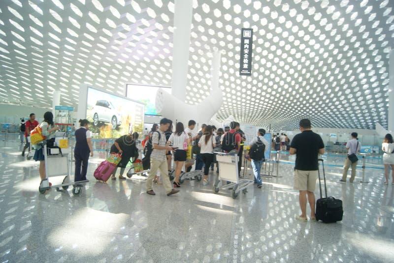 Διεθνής αερολιμένας Baoan Shenzhen, στην Κίνα στοκ φωτογραφίες με δικαίωμα ελεύθερης χρήσης