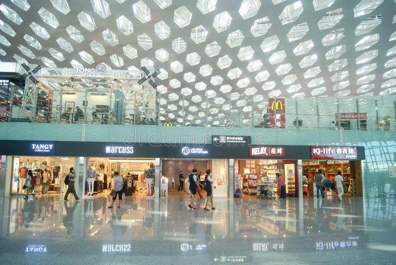 Διεθνής αερολιμένας Baoan Shenzhen, στην Κίνα στοκ εικόνες