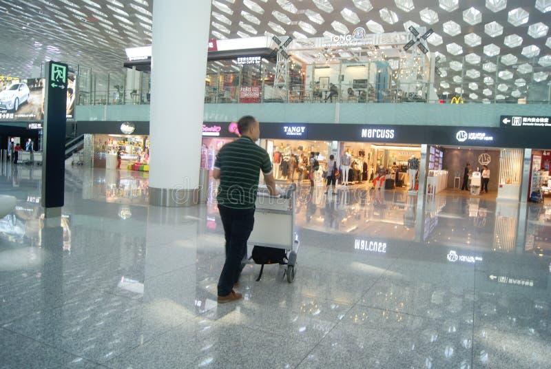Διεθνής αερολιμένας Baoan Shenzhen, στην Κίνα στοκ φωτογραφία με δικαίωμα ελεύθερης χρήσης