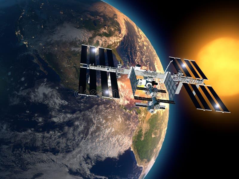 Διεθνής Διαστημικός Στα&the ελεύθερη απεικόνιση δικαιώματος