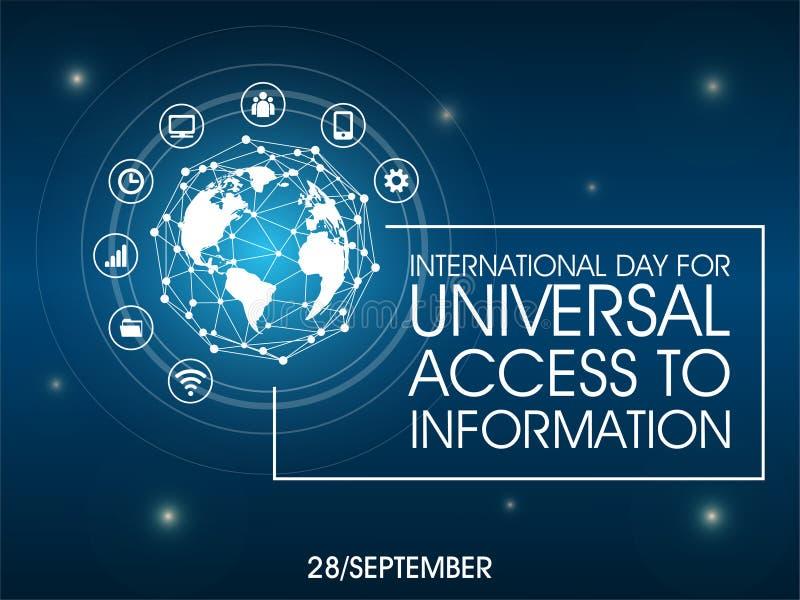 Διεθνής ημέρα για την καθολική πρόσβαση στις πληροφορίες ελεύθερη απεικόνιση δικαιώματος