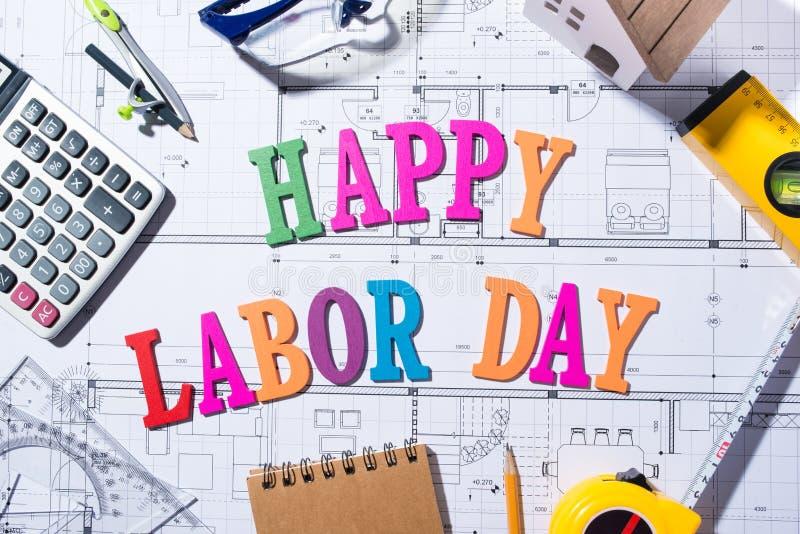 Διεθνής ημέρα εργαζομένων ` Έννοια Εργατικής Ημέρας στοκ φωτογραφία με δικαίωμα ελεύθερης χρήσης