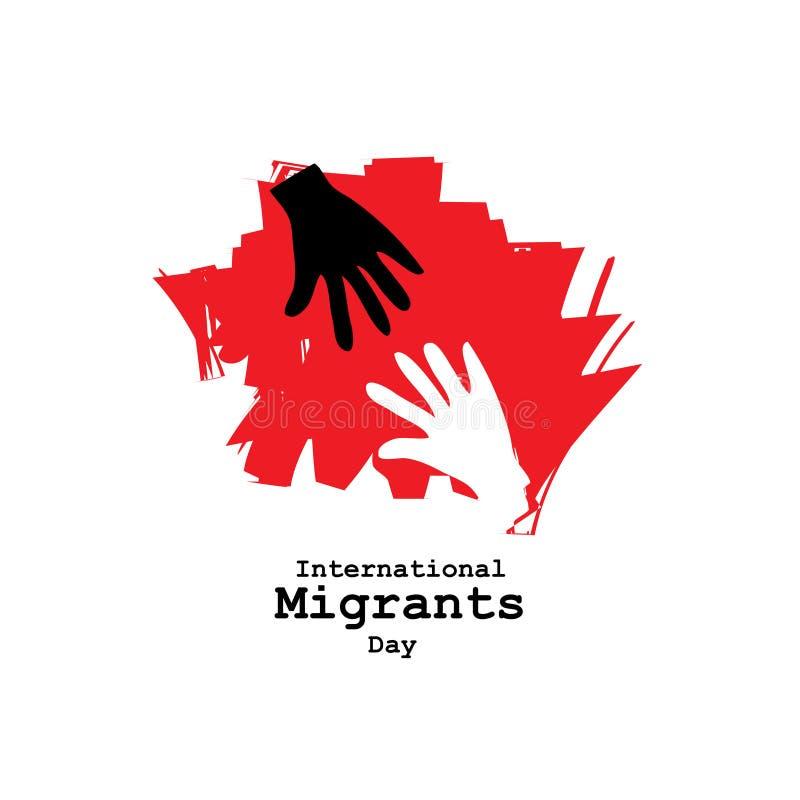 Διεθνής ημέρα μεταναστών ελεύθερη απεικόνιση δικαιώματος