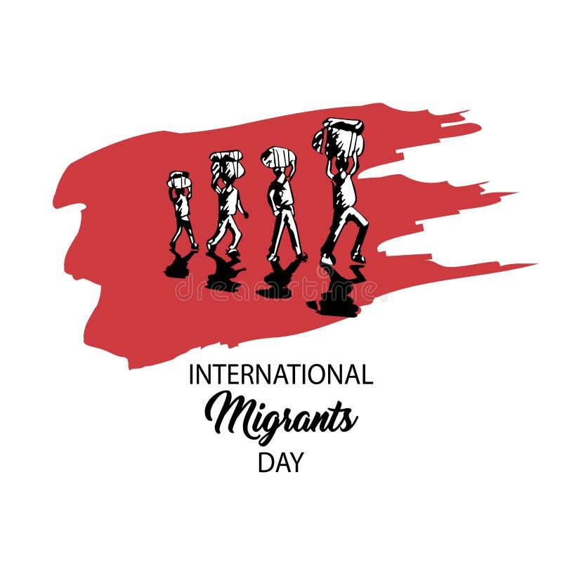 Διεθνής ημέρα μεταναστών διανυσματική απεικόνιση