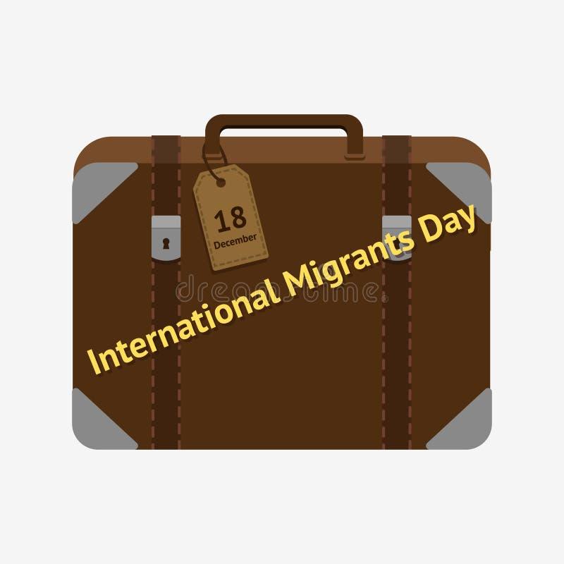 Διεθνής ημέρα μεταναστών απεικόνιση αποθεμάτων