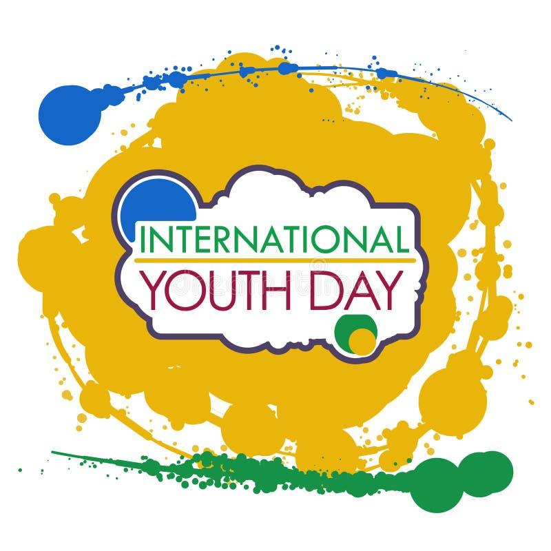Διεθνής ημέρα νεολαίας διανυσματική απεικόνιση