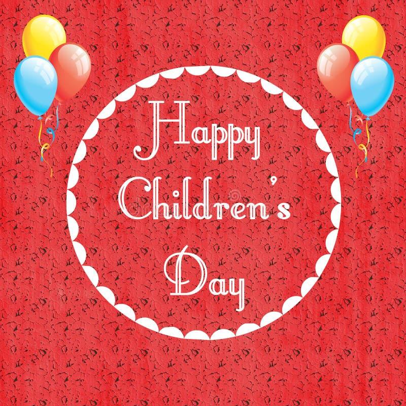 Διεθνής ημέρα παιδιών ` s απεικόνιση αποθεμάτων