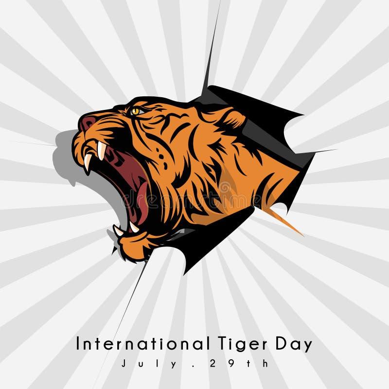 Διεθνής ημέρα τιγρών ελεύθερη απεικόνιση δικαιώματος