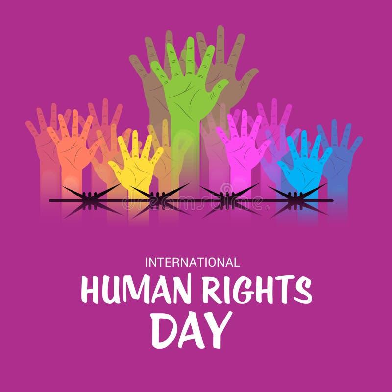 Διεθνής ημέρα των ανθρώπινων δικαιωμάτων απεικόνιση αποθεμάτων