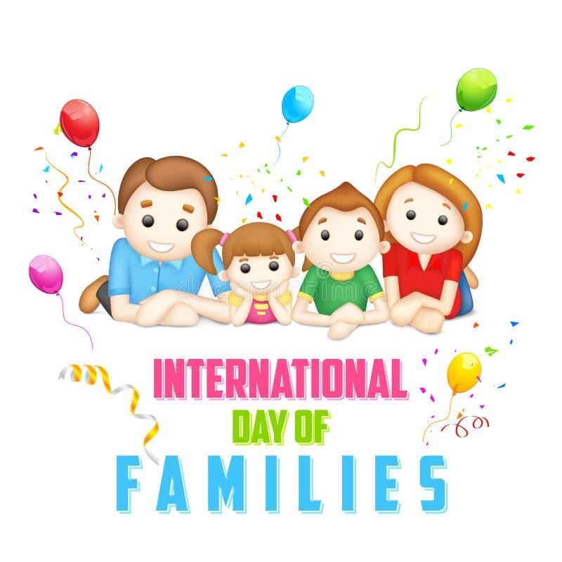 Διεθνής ημέρα των οικογενειών ελεύθερη απεικόνιση δικαιώματος