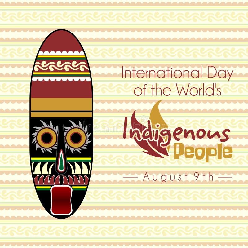 Διεθνής ημέρα των παγκόσμιων ιθαγενών στοκ εικόνες