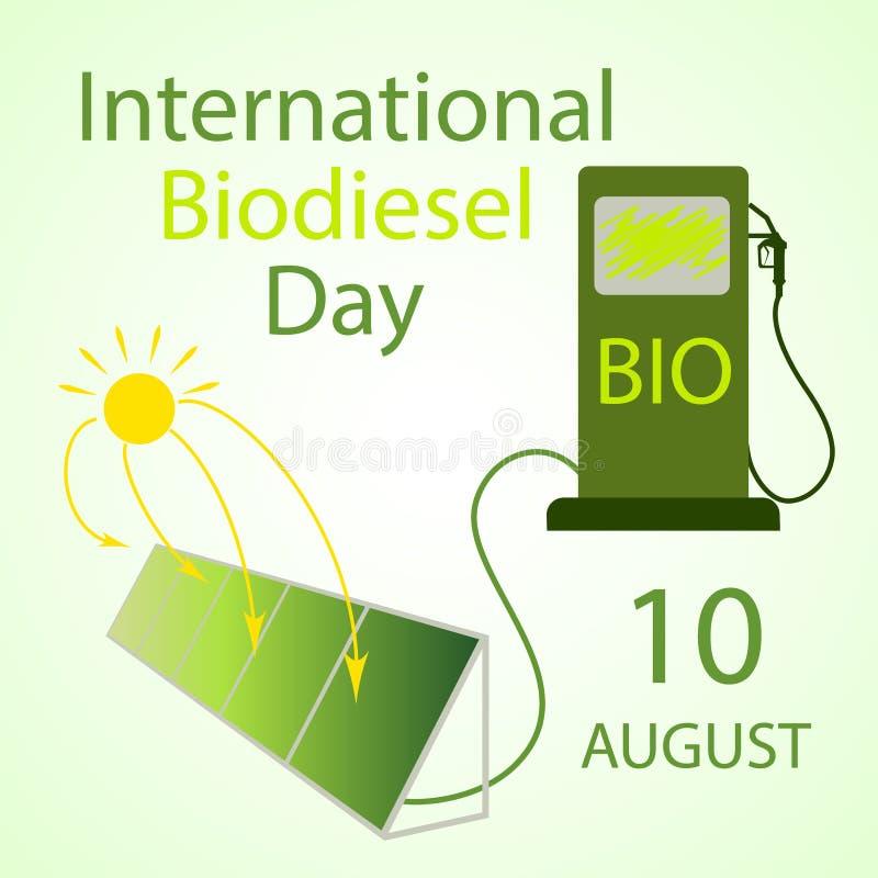 Διεθνής ημέρα biodiesel ελεύθερη απεικόνιση δικαιώματος