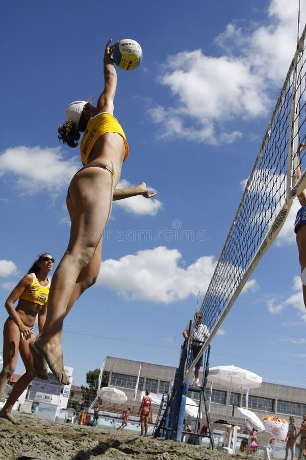 διεθνής κύρια σειρά beachvolley το&upsi στοκ φωτογραφία