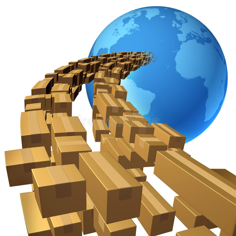 Διεθνής ναυτιλία απεικόνιση αποθεμάτων