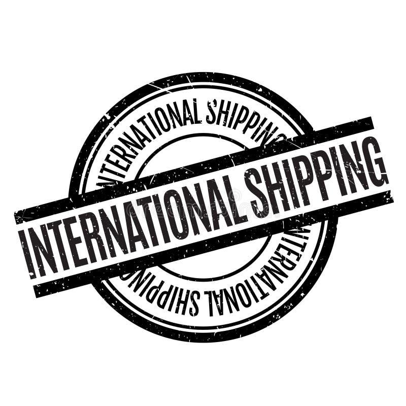 Διεθνής στέλνοντας σφραγίδα στοκ εικόνα με δικαίωμα ελεύθερης χρήσης