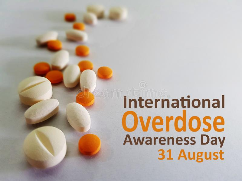 Διεθνής συνειδητοποίηση υπερβολικής δόσης ημέρα στις 31 Αυγούστου στοκ εικόνες