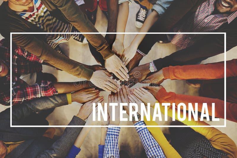 Διεθνής σφαιρική κοινοτική έννοια ταξιδιών στοκ φωτογραφίες