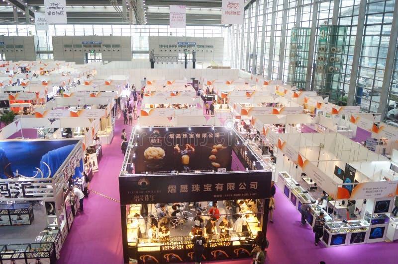 Διεθνής χρυσή έκθεση κοσμημάτων Shenzhen στοκ εικόνες