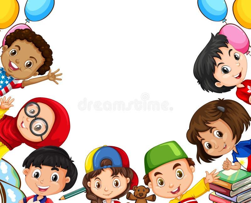 Διεθνή αντικείμενα παιδιών και σχολείων διανυσματική απεικόνιση