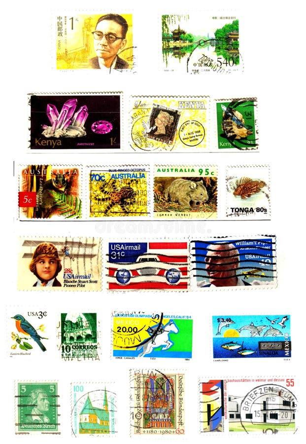 διεθνή γραμματόσημα ανασ&kappa διανυσματική απεικόνιση