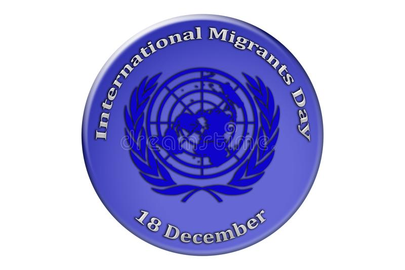 Διεθνείς διακοπές των Ηνωμένων Εθνών, διεθνές Migra απεικόνιση αποθεμάτων