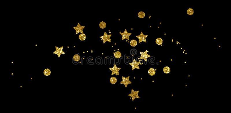 Διεσπαρμένα χρυσά seqines και αστέρια στοκ φωτογραφίες με δικαίωμα ελεύθερης χρήσης