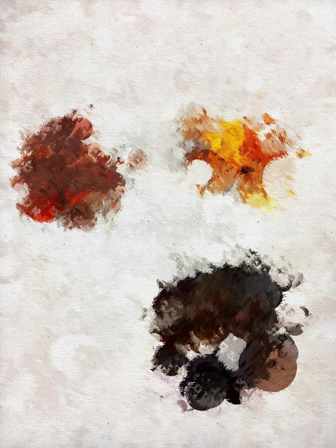 Διεσπαρμένο χρώμα στοκ φωτογραφία με δικαίωμα ελεύθερης χρήσης