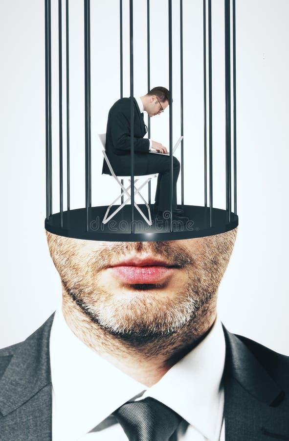 Διευθυνμένο φυλακή αρσενικό στοκ εικόνες