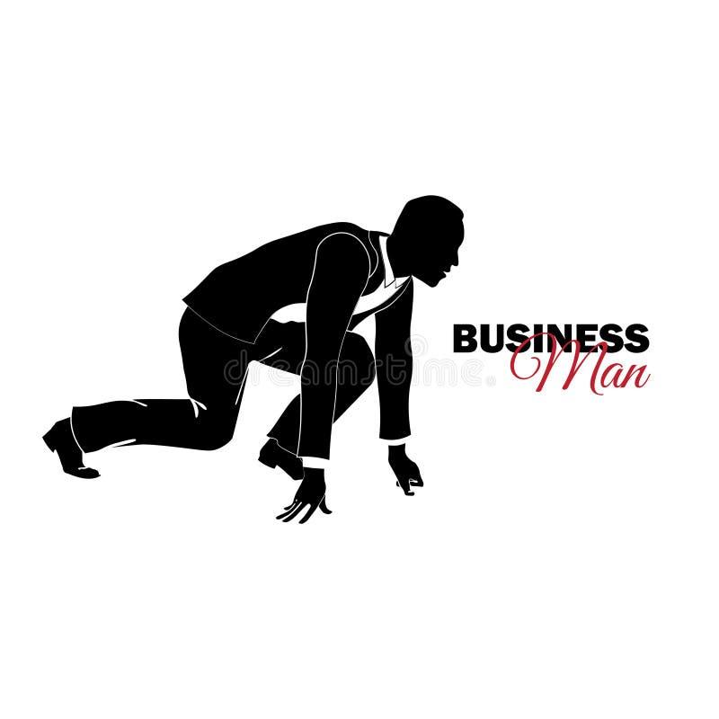 διευθυντής κοστούμι επιχειρησιακών Επιχειρηματίας στη χαμηλή έναρξη ελεύθερη απεικόνιση δικαιώματος