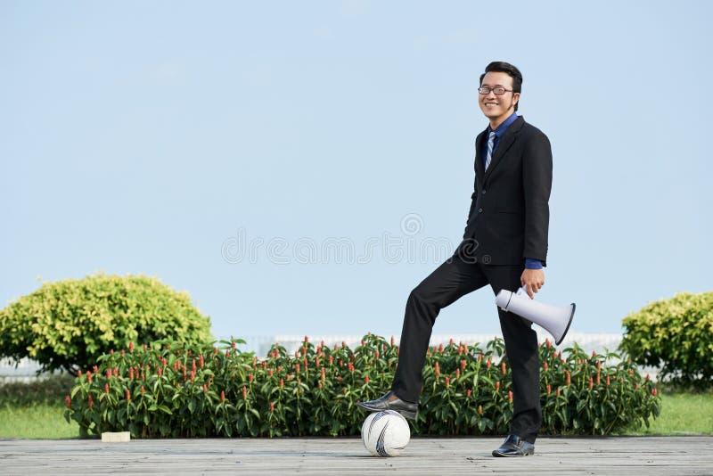 Διευθυντής ποδοσφαίρου στοκ εικόνα με δικαίωμα ελεύθερης χρήσης