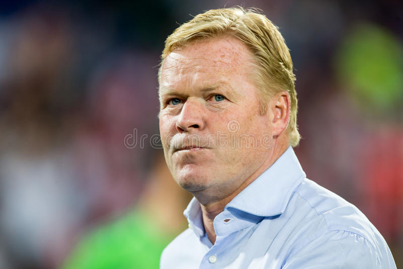 Διευθυντής Southampton FC του Ronald Koeman στοκ φωτογραφία
